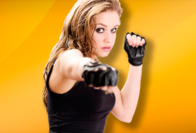 "MMA Woman 280x190 ""Body Composition Tested"" Martial Artists Free Spar Obesity and WIN!"