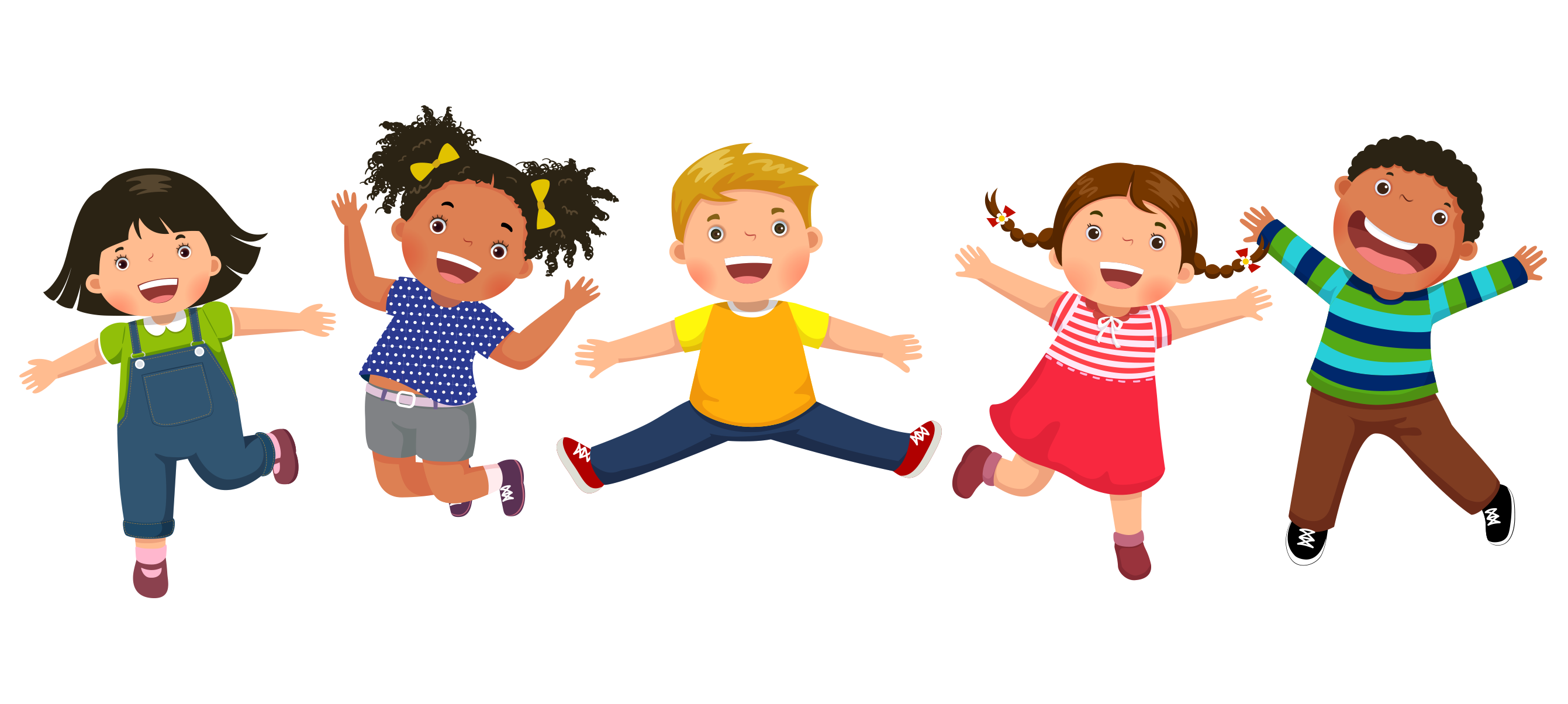 graphic of pre-K kids jumping